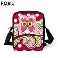 FORUDESIGNS Small School Bags For Baby Girls 3D Cute Owl Schoolbag Children Book Bag Mini Mochila Kids Kindergarten SchoolBag