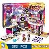 282pcs Friends Super Pop Star Dressing Room Singer Dancer 10404 Building Kit Model Blocks Bricks Kids