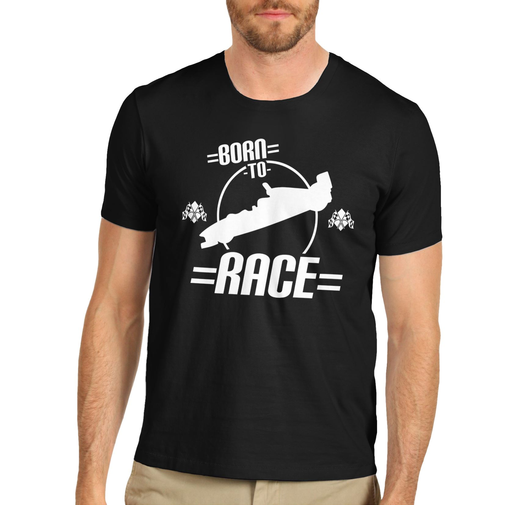 Design t shirt zazzle - T Shirt Men 2017 Fashion Mens Cotton Funny Joke Gift Design Born To Race T Shirt