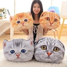 40cm y 50cm Cat Pillow Car Cushion Creative Stuffed Cute Cat forma de almohada de la siesta Cojín de asiento lindo Peluche Animal Animal Pillow