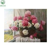 Diy الماس التطريز الأبيض و الأحمر الزهور اللوحة الراين في إعداد لل صليب غرزة أسلوب الحديث تزيين المنزل