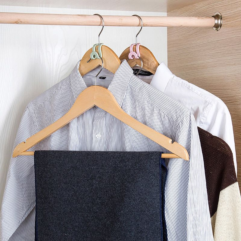 Image 5 - 15Pcs Creative Mini Flocking Clothes Hanger Home Easy Hook Closet Organizer-in Hangers & Racks from Home & Garden