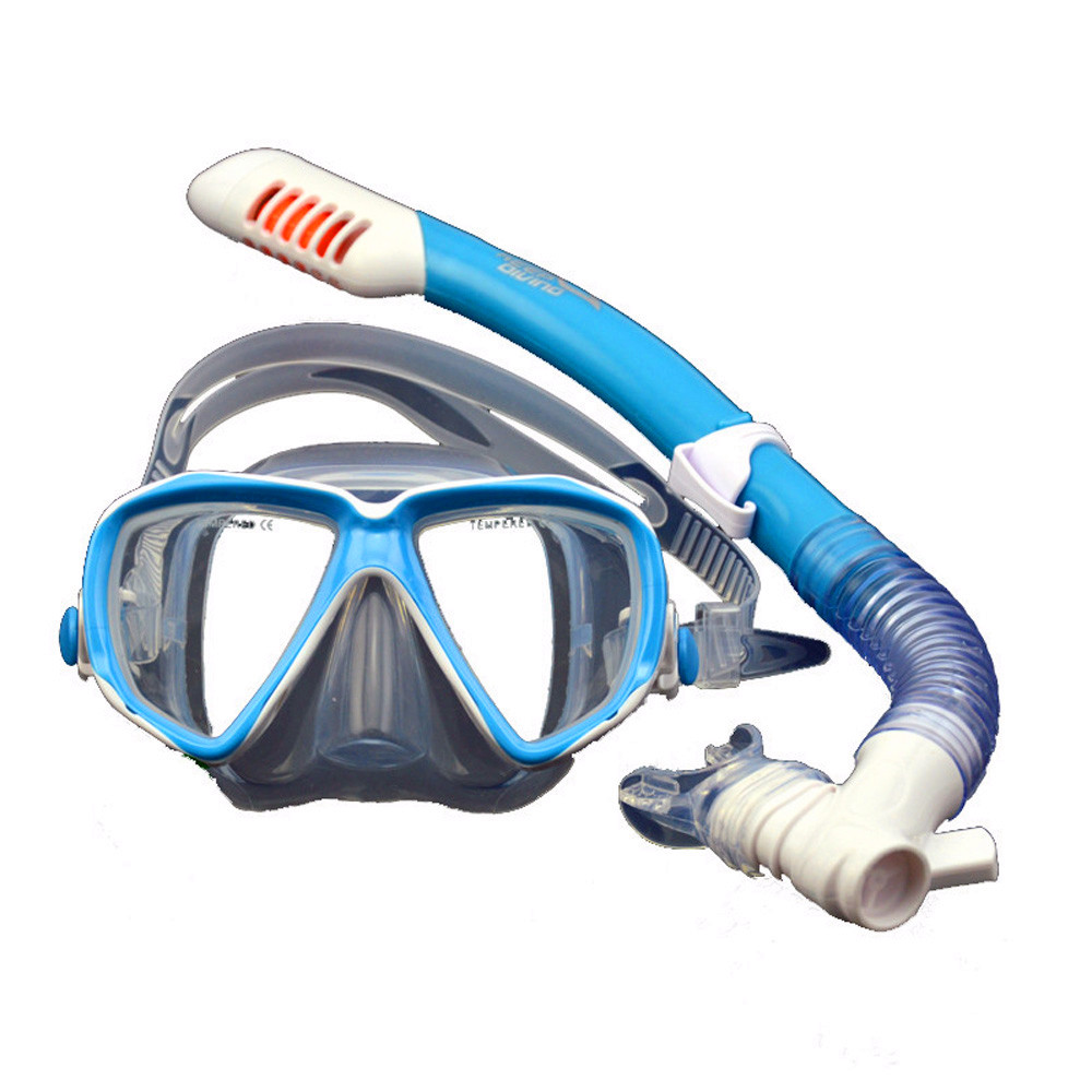 Children Snorkeling Gear Dry Top Kids Diving Mask Set Junior Swim Goggles with Tube Anti-fog Tempered Glass