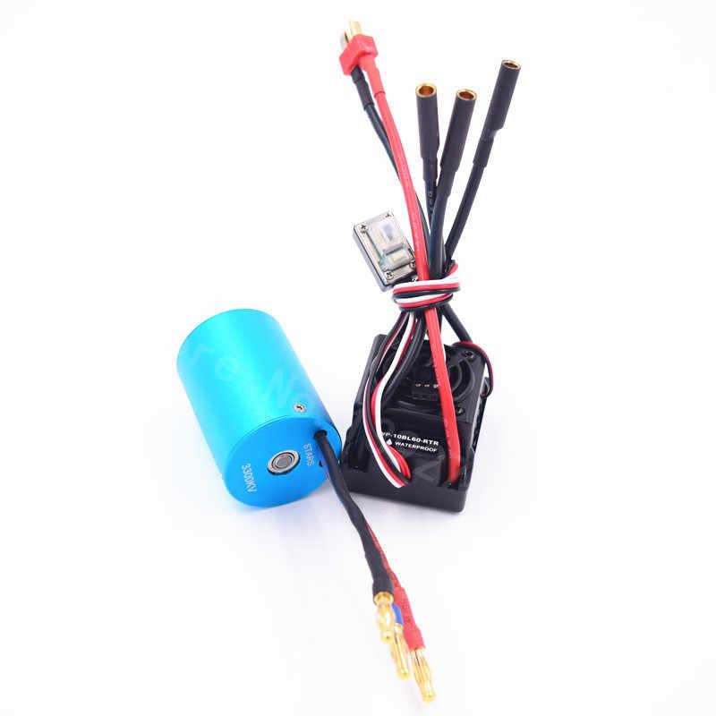 กันน้ำ 60A ESC WP-10BL60-RTR 3650 BRUSHLESS 540 มอเตอร์ 3300KV สำหรับ 1/10 Scale RC รถรีโมทคอนโทรลรถ HSP HPI 2-3 วินาที Lipo