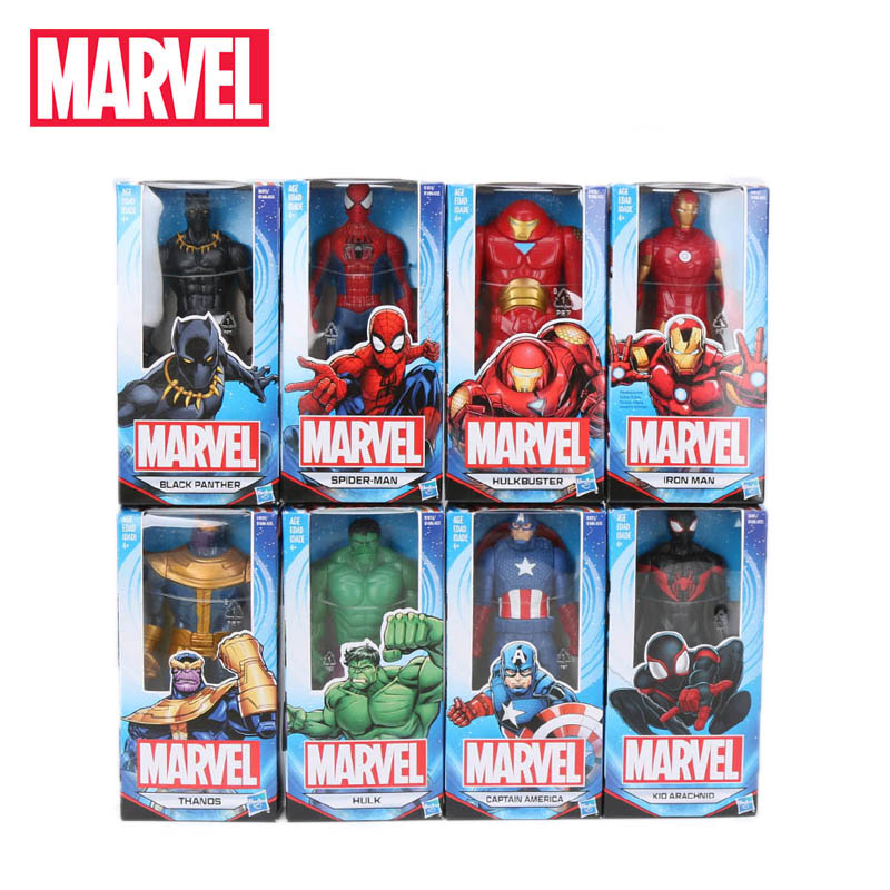 8pcs Marvel Toys 15cm Avengers 4 Basic Character Black Spiderman Hulk Ironman Black Panther PVC Action Figure Collection Model(China)