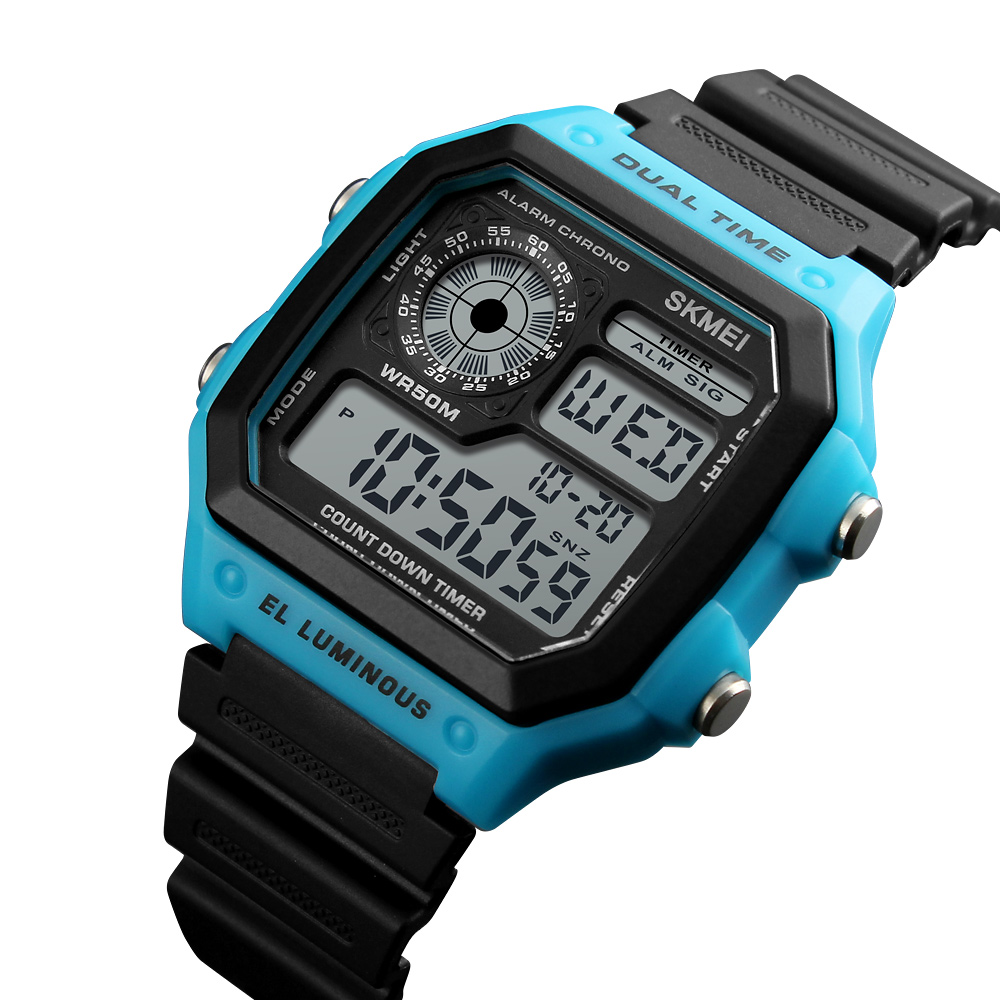 SKMEI LED Digital Watch Men Waterproof Alarm Chronograph Mens Watches Top Brand Luxury Sport Watches For Men Wristwatches s shock mens military sport watch for men skmei top luxury brand men s led digital quartz watch men chronograph sports watches