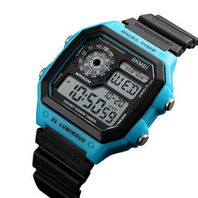 SKMEI LED Digital Watch Men Waterproof Alarm Chronograph Men