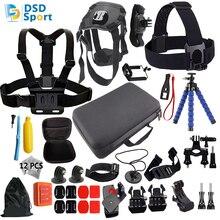 DSD TECH for Gopro accessories set dog harness hero 5 for go pro hero 5 4 3 mount for xiaomi yi camera eken h9 tripod sjcam 11A
