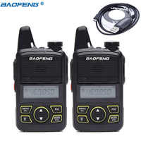 2 Pcs Baofeng BF-T1 BFT1 MINI Walkie Talkie cb Two Way Radio UHF long range Taschenlampe Handheld Transceiver Tragbare Ham radio