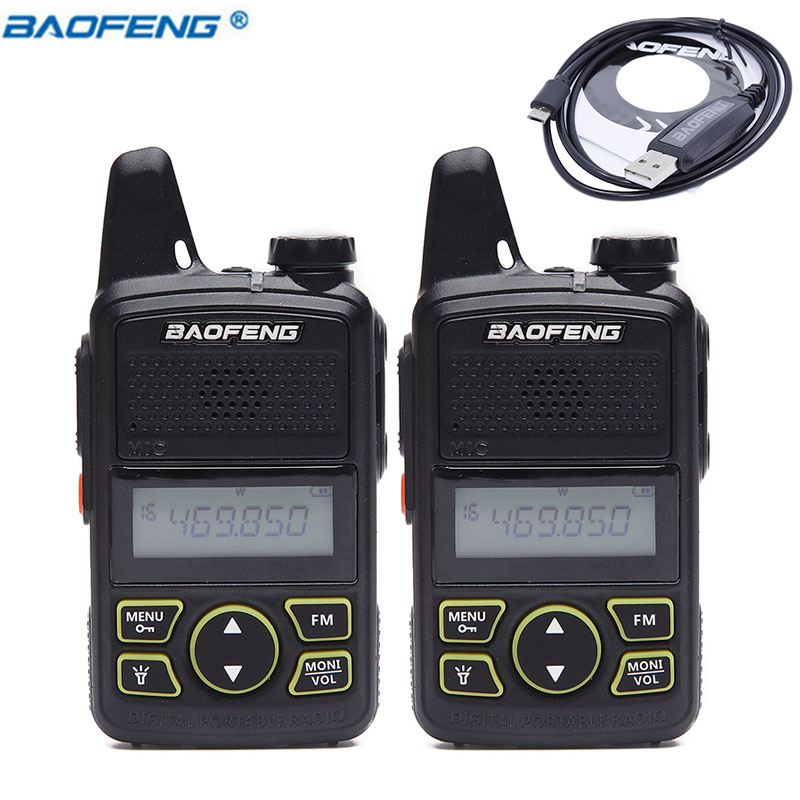 Walkie Talkie BF-T1 DC 3.7V MINI Radio UHF 400-470MHz FM Transceiver 1500MAH US