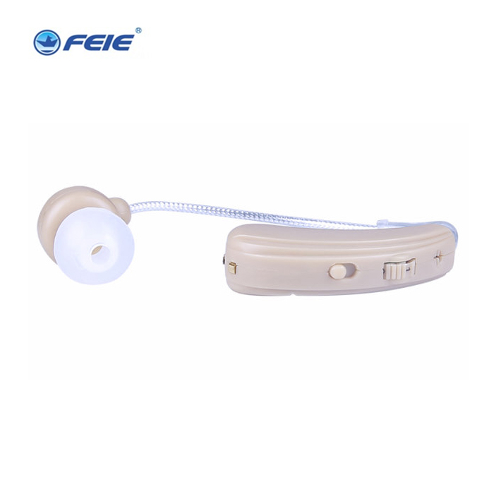 free shipping 2016 Newest mini headphone  hearing aid behind the ear  BTE rechargeable double hearing aid S-109S devices for hearing mini digital hearing aid voice recorder minds aparelho auditivo 6 canais s 16a free shipping
