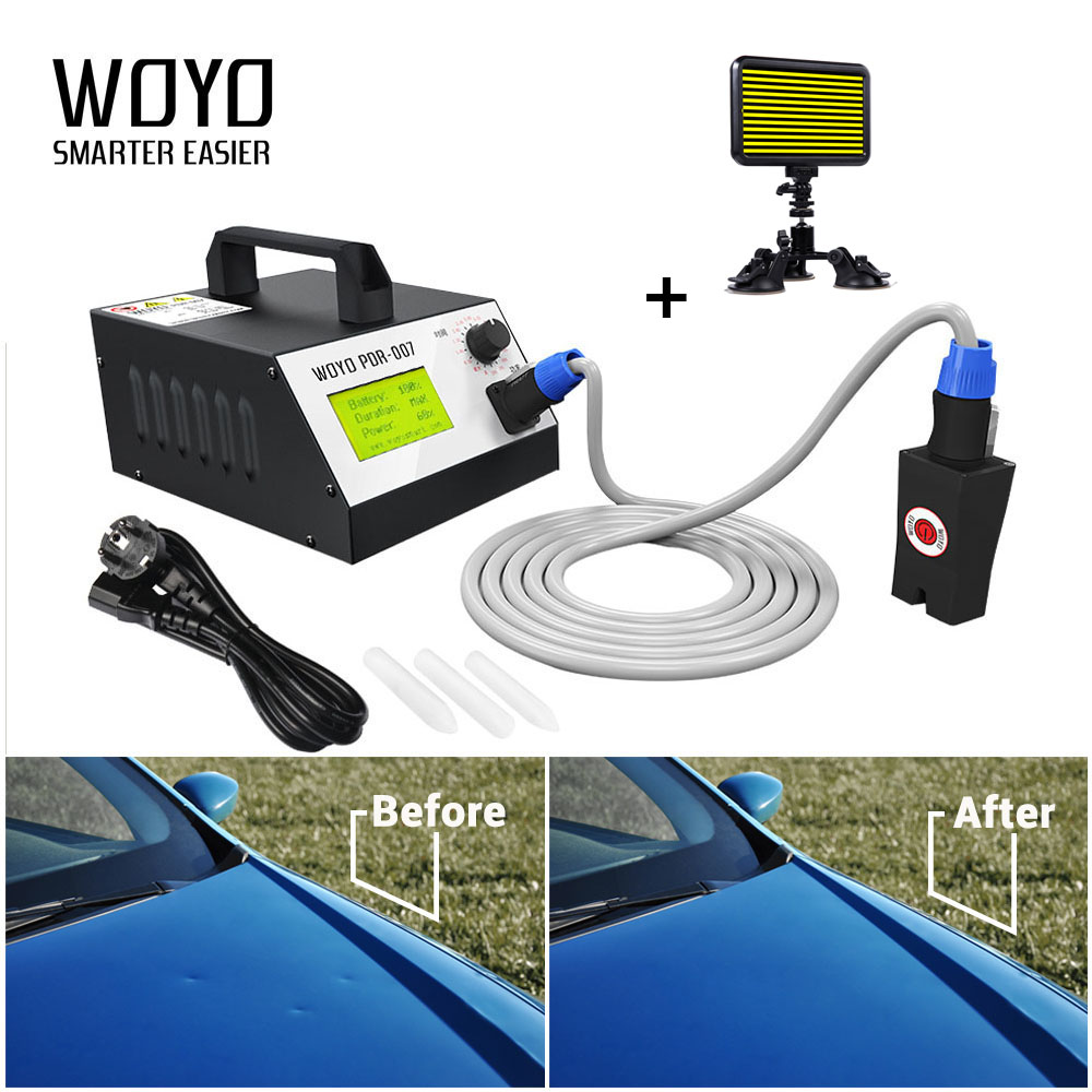 2017 Hotbox WOYO PDR007 Car Sheet Metal Tool Set Induction Magnetic Heater for Removing Dents Repair Kit PDR-007 Hot Box Removal