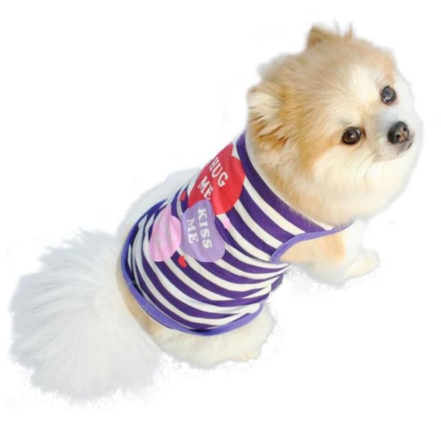 "Custom Printed ""Hug Me Kiss Me Love Me"" Pet Dog Shirt"