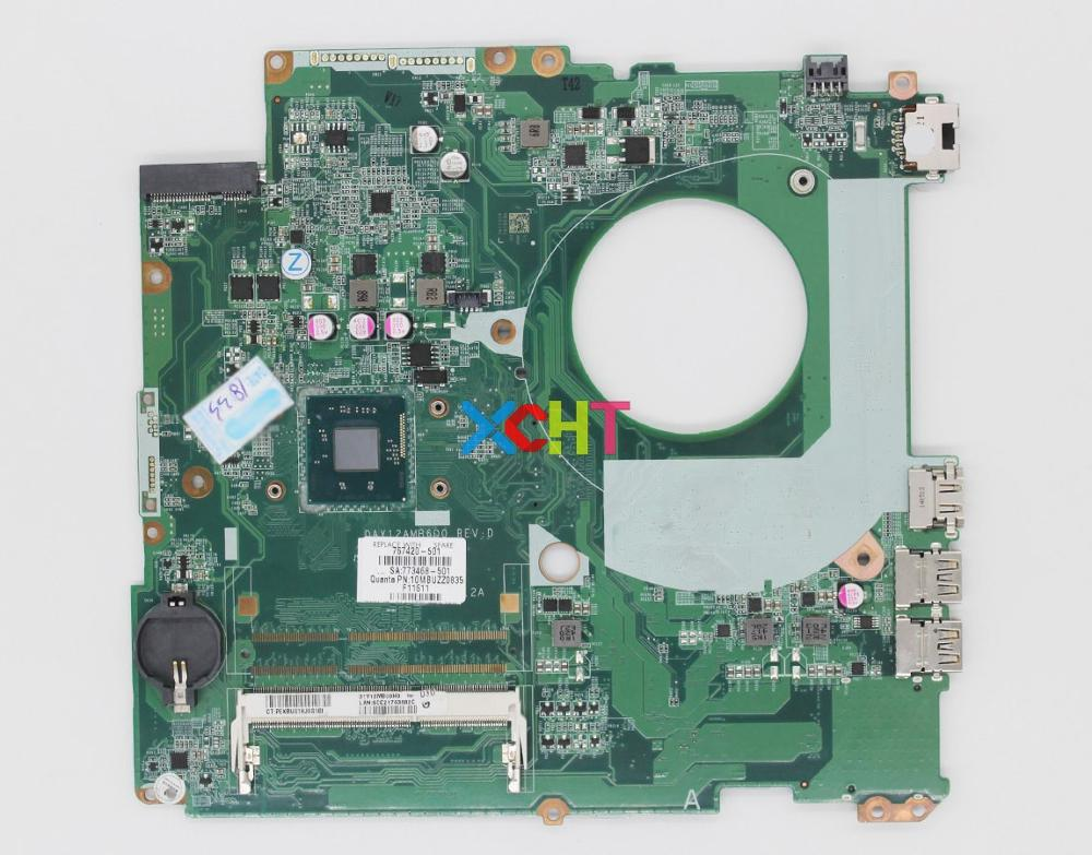 XCHT for HP Pavilion 17-F Series 767420-001 767420-501 DAY12AMB6D0 UMA N2830 Laptop Motherboard Tested & working perfectXCHT for HP Pavilion 17-F Series 767420-001 767420-501 DAY12AMB6D0 UMA N2830 Laptop Motherboard Tested & working perfect