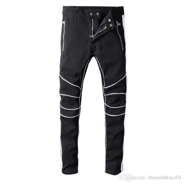 Aliexpress.com : Buy 2019 Balmain New Arrival Mens Designer Brand Black  White Jeans Skinny Ripped Destroyed Stretch Slim Fit Hop Hop Pants With  Holes from ...