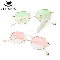 CIVICHIC 2017 Korea Style Women Sunglasses Small Square Personalized Eyewear Gradient Street Snap Oculos De Sol