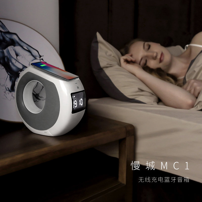 Qi chargeur sans fil Nillkin MC1 Bluetooth haut-parleur horloge alarme sans fil chargeur musique surround haut-parleur chargeur pour iPhone X Mi 9 - 6