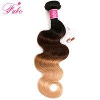 FABC Ombre Brezilyalı vücut Saç 1b/4/27 Insan Saç örgü 3 Ton demetleri Olmayan Remy İnsan saç Uzantıları herhangi uzunluk mix can