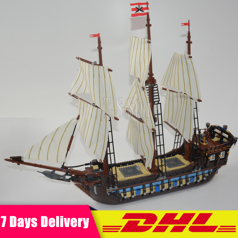 DHL IN Stock  LEPIN 22001 Pirate Ship Imperial Warships Model Building Kits Block Briks Toys Gift 1717pcs Clone 10210 lepin 22001 pirates series the imperial war ship model building kits blocks bricks toys gifts for kids 1717pcs compatible 10210