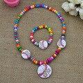 Nueva joyería del cabrito de la Manera conjunto lindo de la mariposa collar de la pulsera tiene elástico partido regalo para los niños de la muchacha al por mayor CS120
