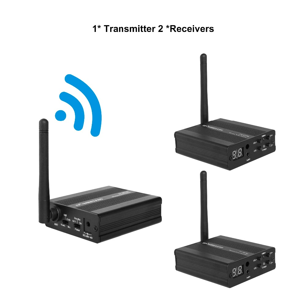 TP WIRELESS 2 4GHz Digital Wireless HDCD Audio Music Sound Wireless Transceiver 1 Transmitter 2 3