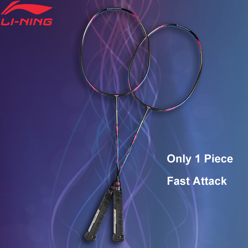 Li Ning Turbo Charging 20 Professional Badminton Racket Single Racket LiNing Equipment Sports Racket AYPM324 AYPM436