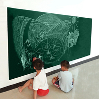 Creative Home Decor Black Board Wall Sticker For Children Teaching 45x200 CM Black Green White Colors