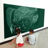 Creative Home Decor Black Board Wall Sticker For Children Teaching 45x200 CM Black Green White Colors