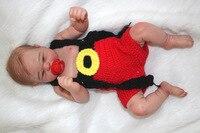 21 дюймов Reborn маленьких Реалистичная все силиконовые полный силиконовые тела куклы младенца новорожденного винил возрождается прекрасный