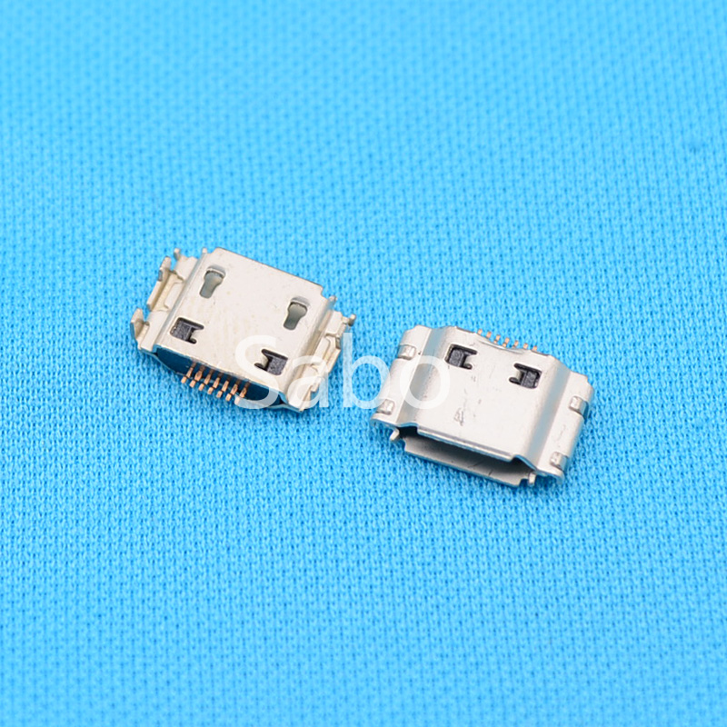 10pcs Micro USB Jack Connector Female 7 pin Charging Socket For samsung I9000 S8000 S5630C S5620 S5660 I8910 I9003 I9008 I9020 100pcs 10pcs each for 10 kind micro usb 5pin jack tail socket micro usb connector port sockect for samsung lenovo huawei zte htc