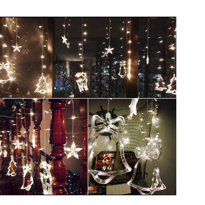WoodPow 3M 12LED puhkusepidu valguse aken jõulude kaunistamiseks - Puhkusevalgustus - Foto 6