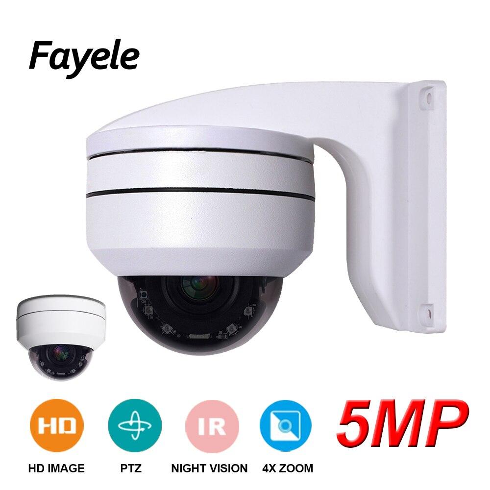 H.265 5MP MINI Speed Dome PTZ Câmera de Segurança CCTV Megapixels Câmera IP Pan Tilt ONVIF IR 50 5 M 4X ZOOM IR P2P Controle de Telefone