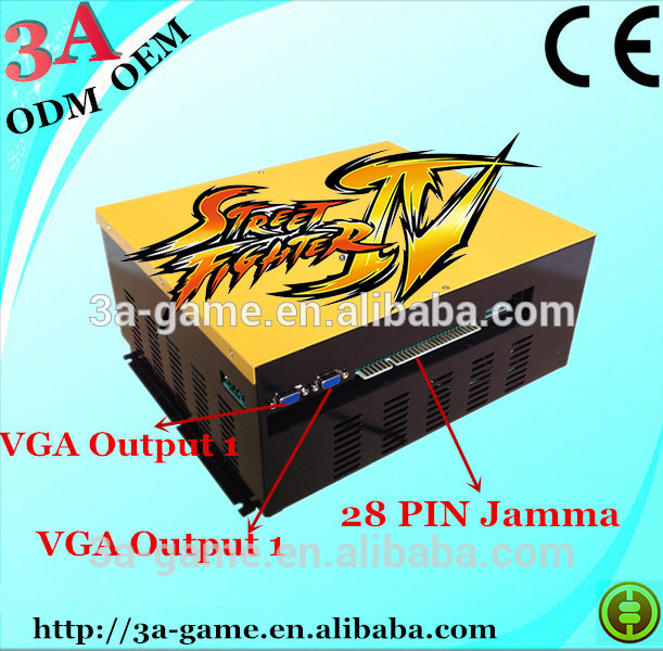 Arcade fighting video game machine Super Street Fighter 4 game console image
