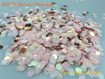 1cm 10g/bag Mixed Colors Metallic Rose Gold Mini Round Confetti Dots Filling Balloons Baby Shower Wedding Engagement Decorations