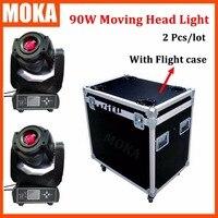 2 Stks/partij nieuwe collectie 90 W led moving head spot light + flight case dubbele gobowiel beam moving head licht 8 Lens Dmx Stage Pro-in Toneelbelichtingseffecten van Licht & verlichting op