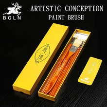Buy Bgln 10Pcs Artist Inspirational Paint Brush Set 7pcs Bristle+3pcs Nylon Painting Brush For Oil Gouache Painting Art Supplies directly from merchant!