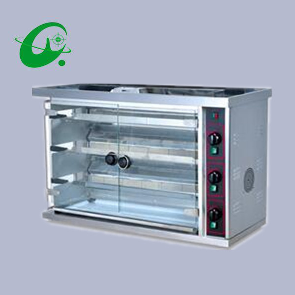 Commercial gas chicken rotisseries Gas Rotisserie BBQ oven multi-function 3-row duck equ ...