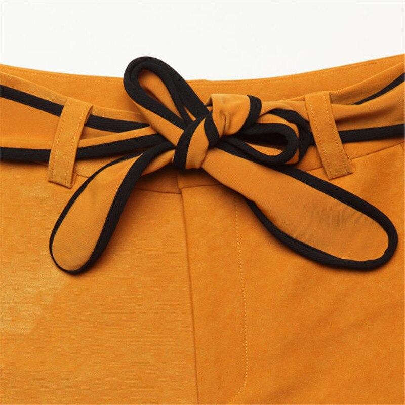 Azul Borgoña yellow Black Pierna Las Y De El Moda Otoño Negro Cintura Alta Campana Mujeres Pantalones Invierno A2669 Inferior beige Ancha RZqaAnwB