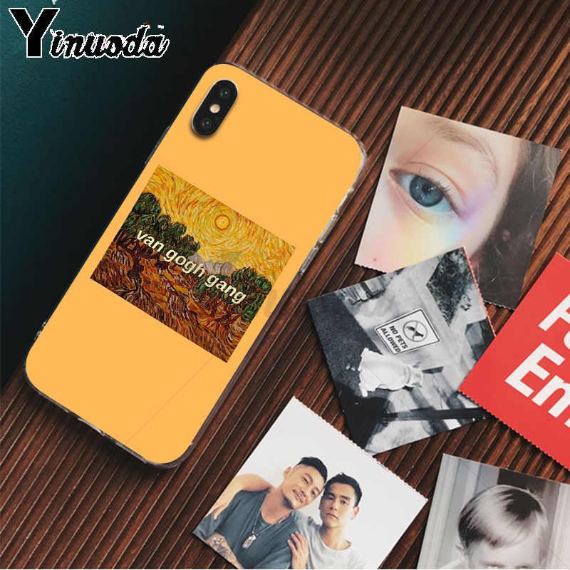 Yinuoda отличный арт эстетическое Ван Гог Мона Лиза Давид ТПУ чехол для iPhone 8 7 6 6S Plus 5 5S SE XR X XS MAX