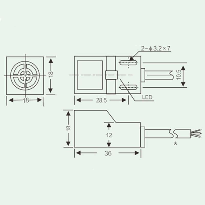 SN04 N Famous SN04N 4mm Approach Sensor NPN,3 wire,NO 6