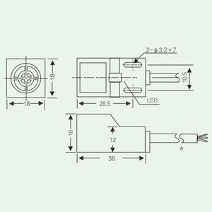 Image 4 - SN04 N 유명한 SN04N 4mm 접근 센서 NPN,3 선, NO 6 30V DC 유도 형 근접 스위치