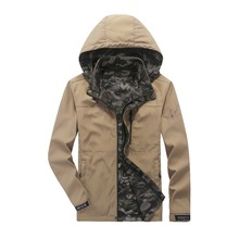CLOTHES NEW AUTUMN JACKETS MEN BOTH SIDES WEAR QUICK-DRYING COATS CASUAL FASHION PLUS SIZE XXXXL CAMOUFLAGE HOODED MEN JACKETS