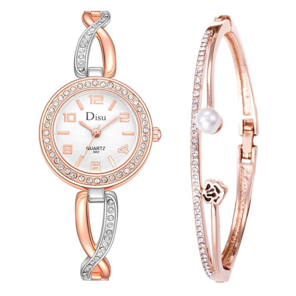 Fashion Bracelet Clock Women Fashion Light Luxury Girl Temperament Watch Bracelet Set Chain Watch Birthday Gift Watches