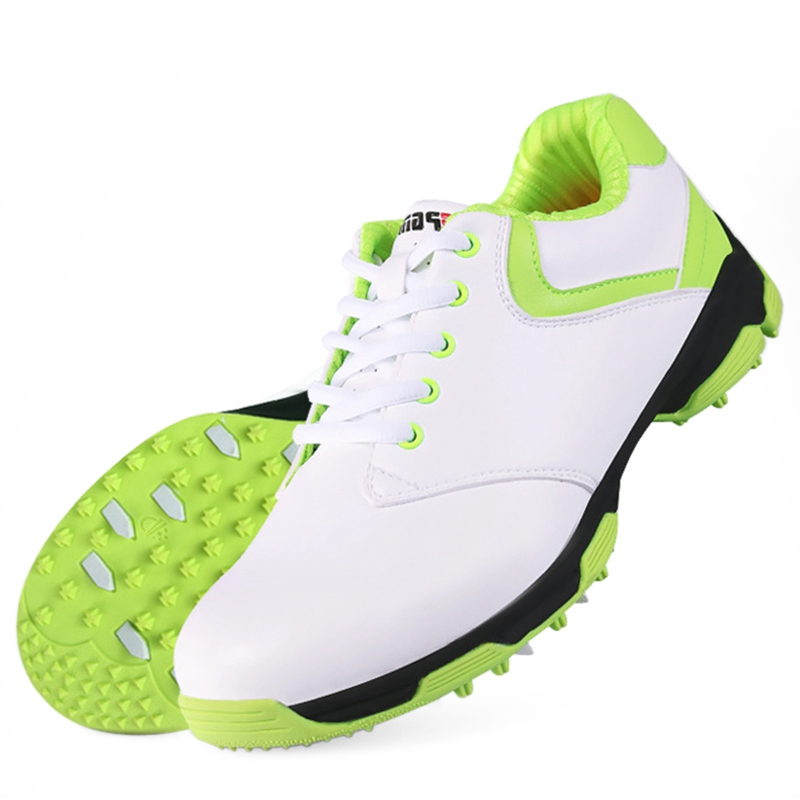 Golf Lady Sports Shoes Microfiber Leather Sneakers 2018 PGM Waterproof Golf Shoes Breathable Mesh Groove Linging Golf Shoes pgm authentic golf shoes men waterproof anti skid high quality male sport sneakers breathable shoes