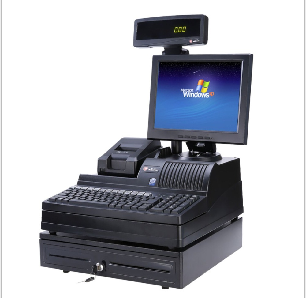 12 Inch All-In-One Automatic Cash Register CPOS Cash Register For Sale