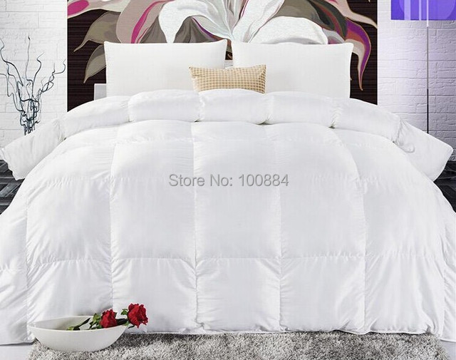 220*240 king size high quality white duck quilt,winter duck ... : duck feather quilt king size - Adamdwight.com