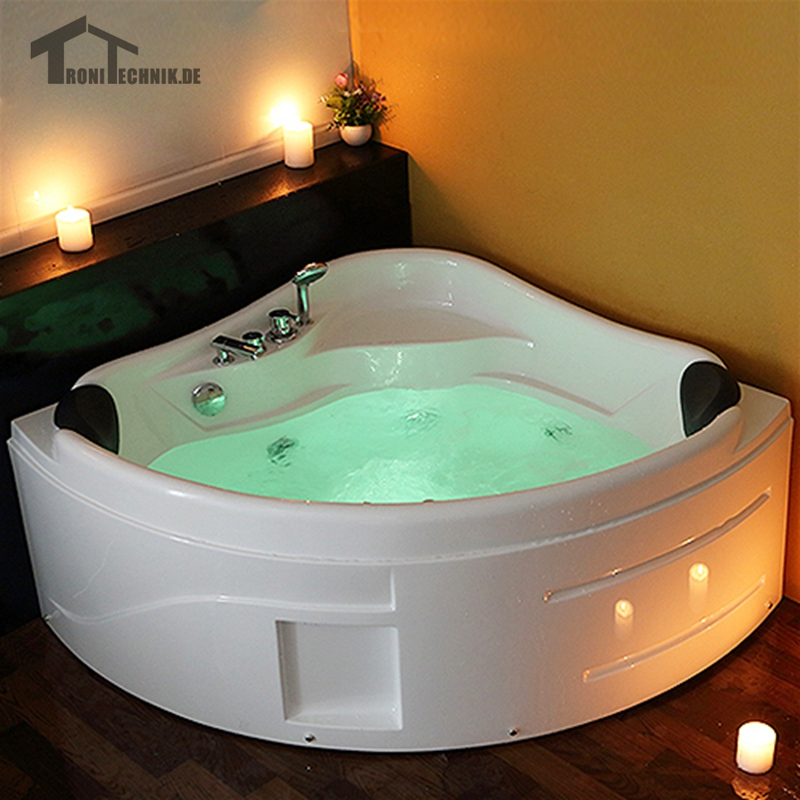 1300mm whirlpool Spa Massage Wall Corner Bathtub freestanding Glass ...