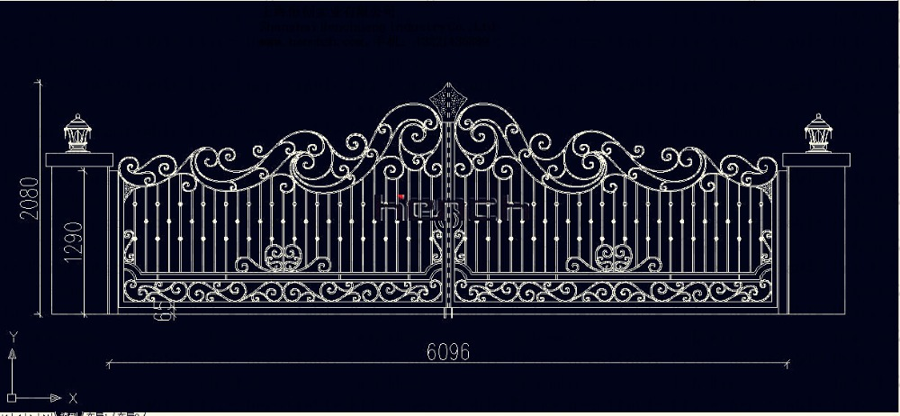 Continental Iron Gate Classic design ash163-3