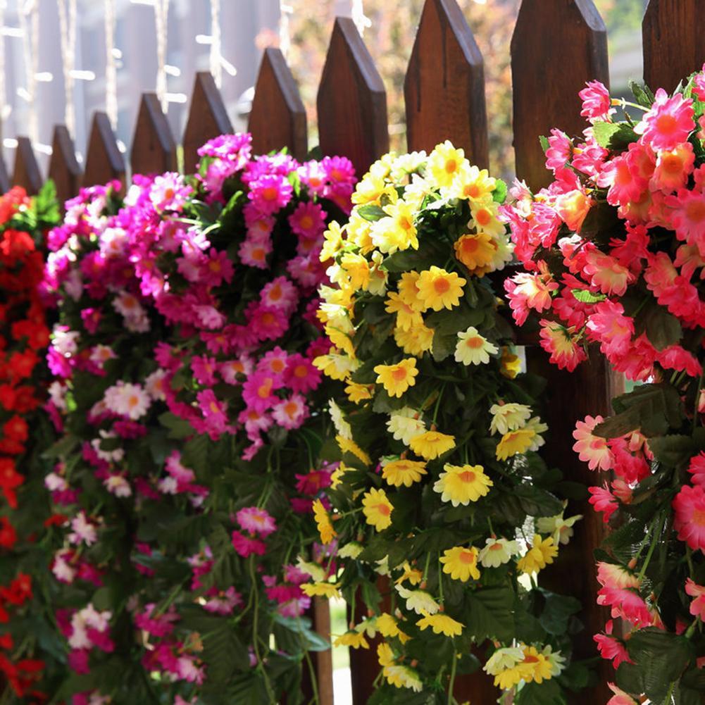 Hanging-Decoration Garden 1pc Cloth Vine Flower Artificial-Daisy Fantastic Silk Wedding