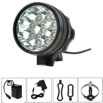 9T6  Bike Light 15000 Lumen Waterproof 9xCree XM-L T6 LED Bicycle Light Lamp 3 mode + 8.4V 8800mah 18650 Battery Pack + Charger